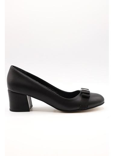 La scada Mr570 Pudra Kadın Topuklu Ayakkabı Siyah